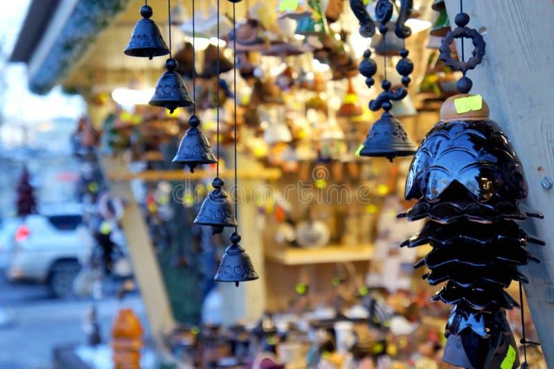 Jingle bells. On the Christmas market stock photos