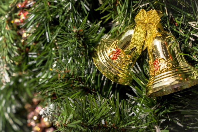 Jingle Bells Decorations für Weihnachten stockfoto