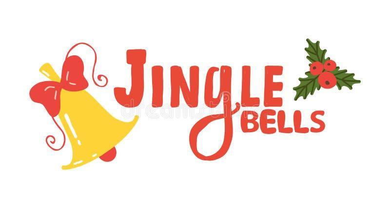 Jingle Bells Sign Icon Vector-Illustration stock abbildung