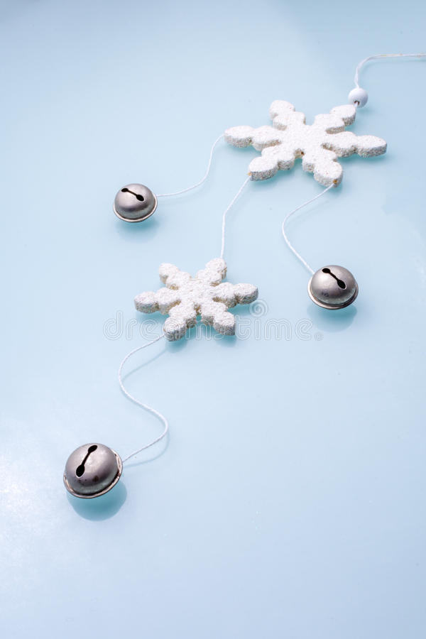 Jingle Bells with snow flakes. royalty free stock photos