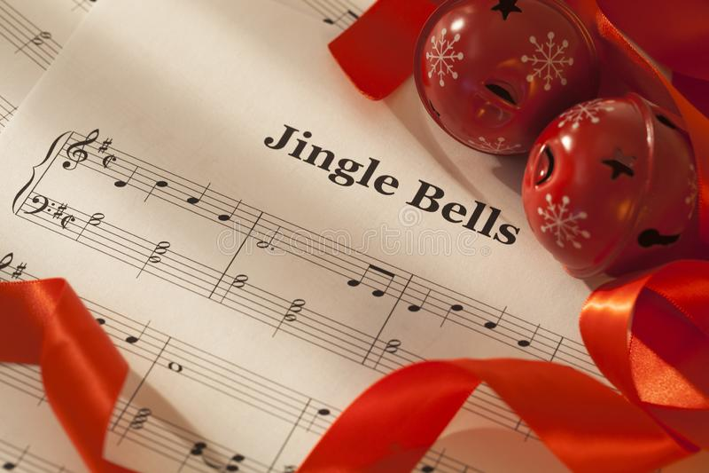 Jingle bells song royalty free stock photo