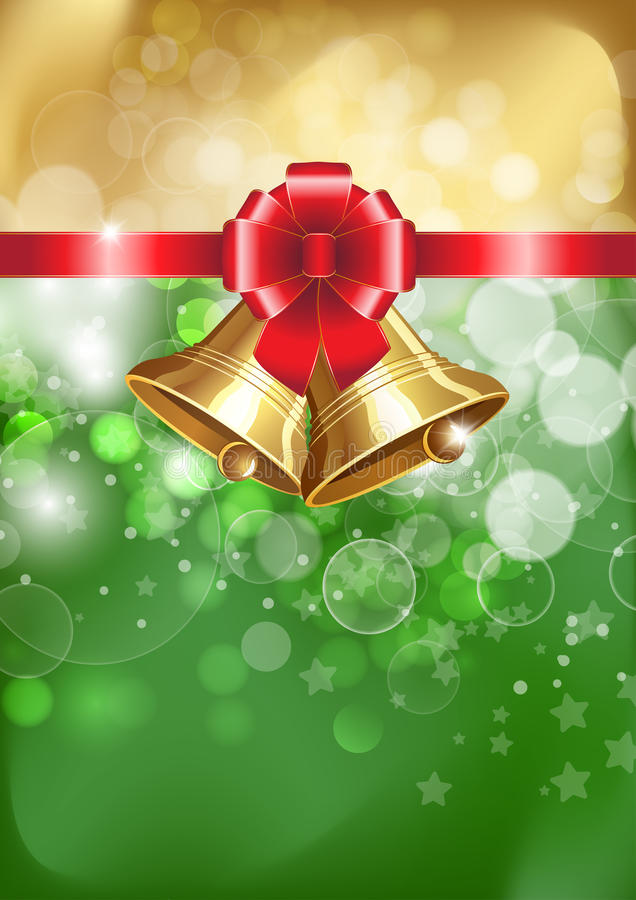 Free Jingle Bells With Red Bow Royalty Free Stock Photos - 27556668
