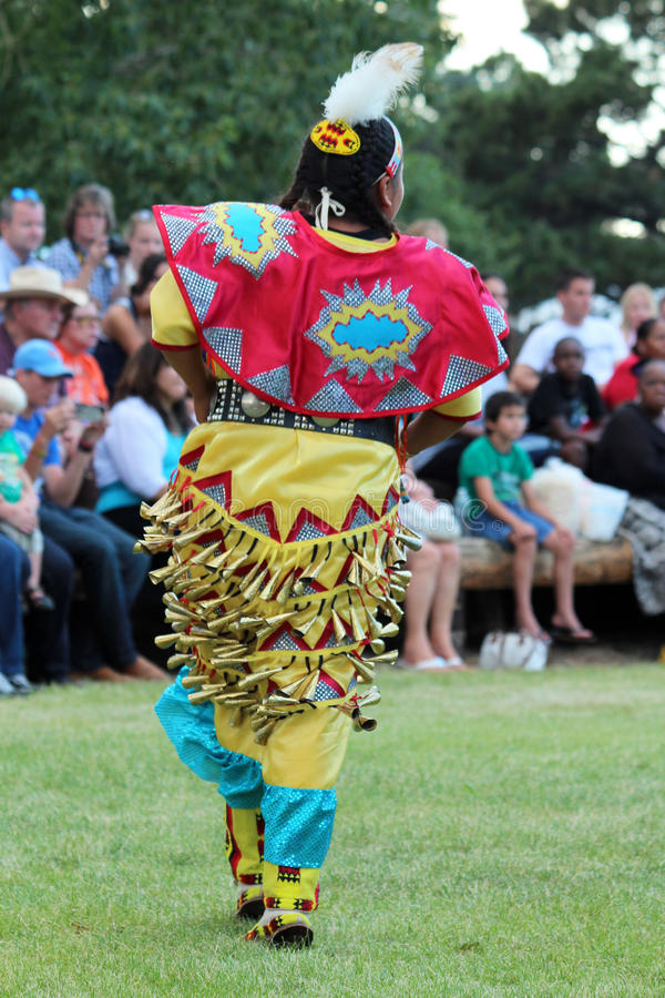 Jingle Dance - Powwow 2013 stock photography