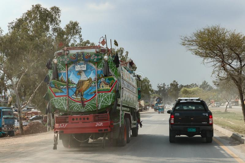 Jingle truck in Islamabad, Pakistan stock photos