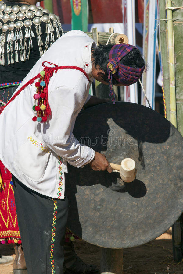 Download Jingpo Drummer At Festival Dance Editorial Photo - Image of headwear, chinese: 28524621
