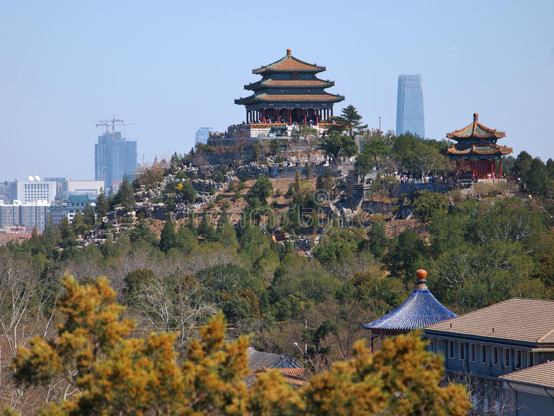 jingshan πάρκο εικονικής παράστασης πόλης του Πεκίνου Κίνα στοκ εικόνες με δικαίωμα ελεύθερης χρήσης