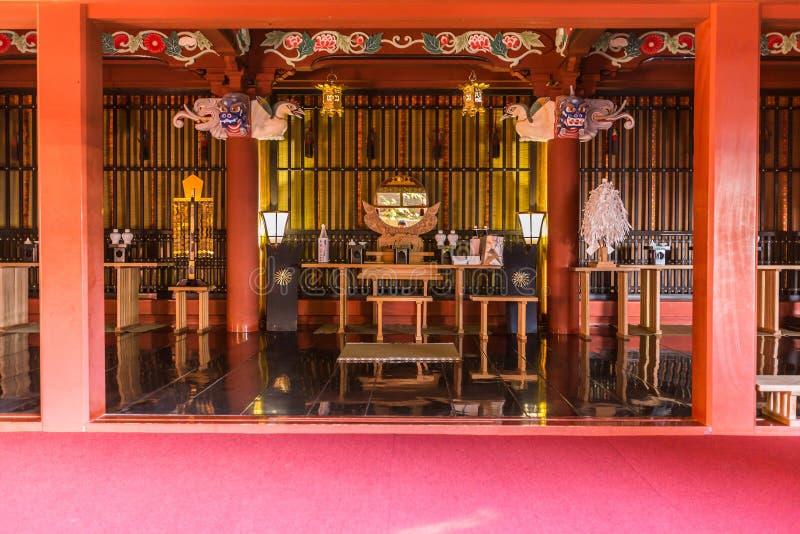 Jingu d'Udo, un tombeau de Shinto situé sur le littoral de Nichinan, Kyushu images libres de droits