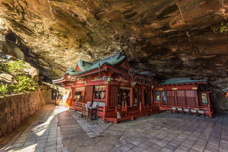 Jingu de Udo, um santuário xintoísmo situado no litoral de Nichinan, Kyushu imagens de stock royalty free