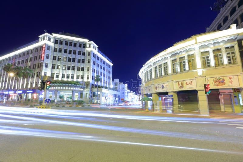Jinhou旅馆夜视域,多孔黏土rgb 免版税库存照片