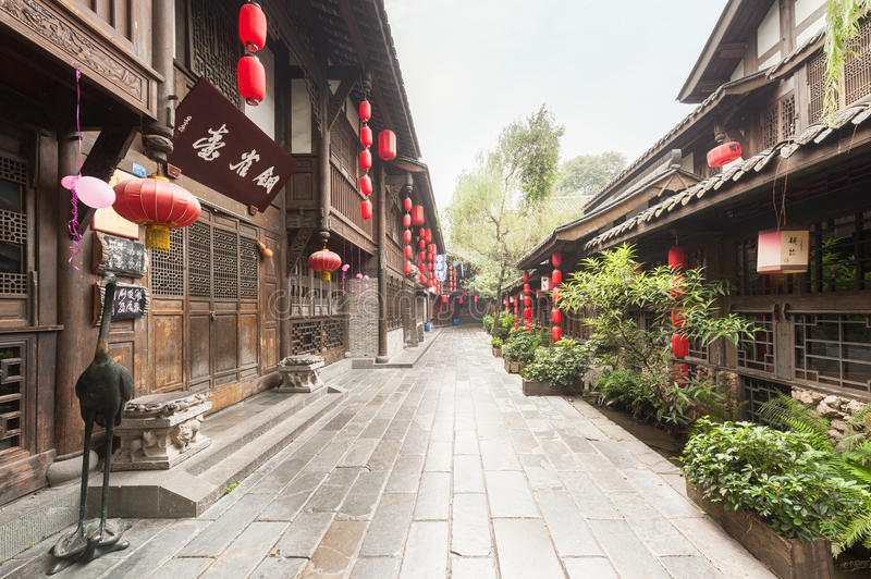 Jinli ancient street in Chengdu royalty free stock photos
