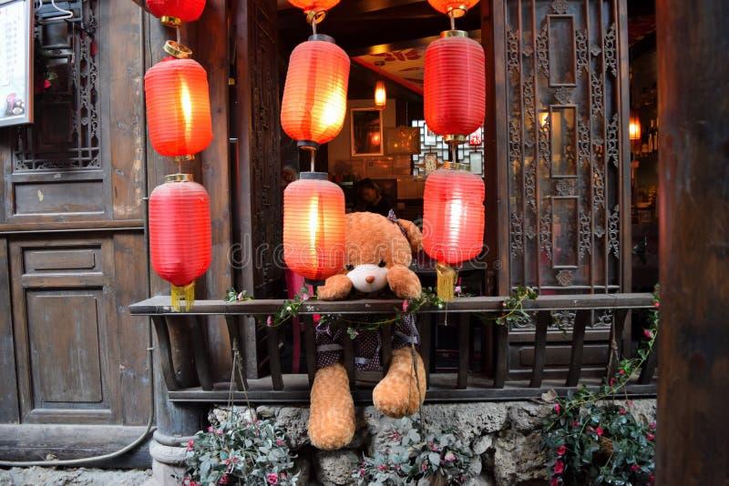 Jinli Strret, Chengdu fotos de stock royalty free