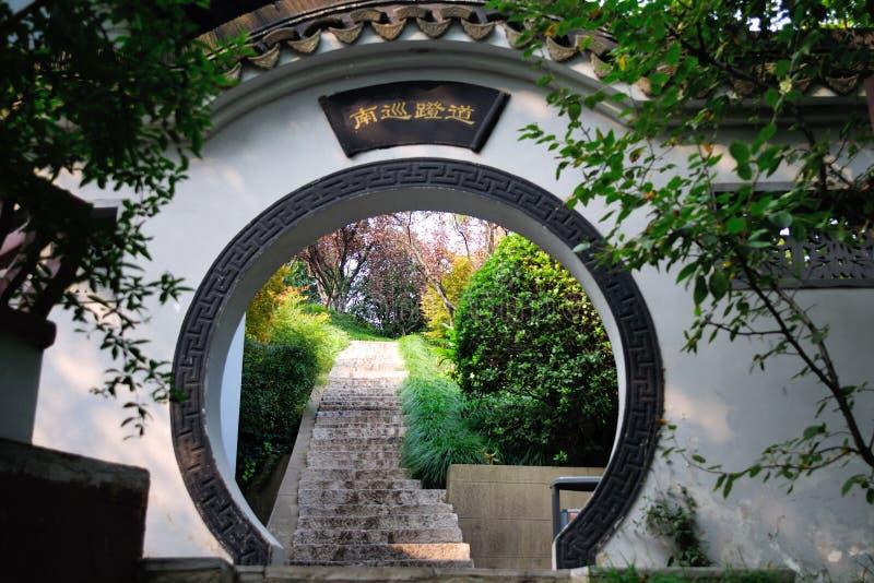 Jinling corner of the garden stock images