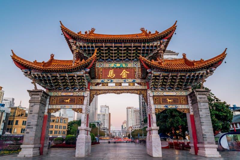 Jinma Bijifang w Kunming, Yunnan, Chiny obrazy stock