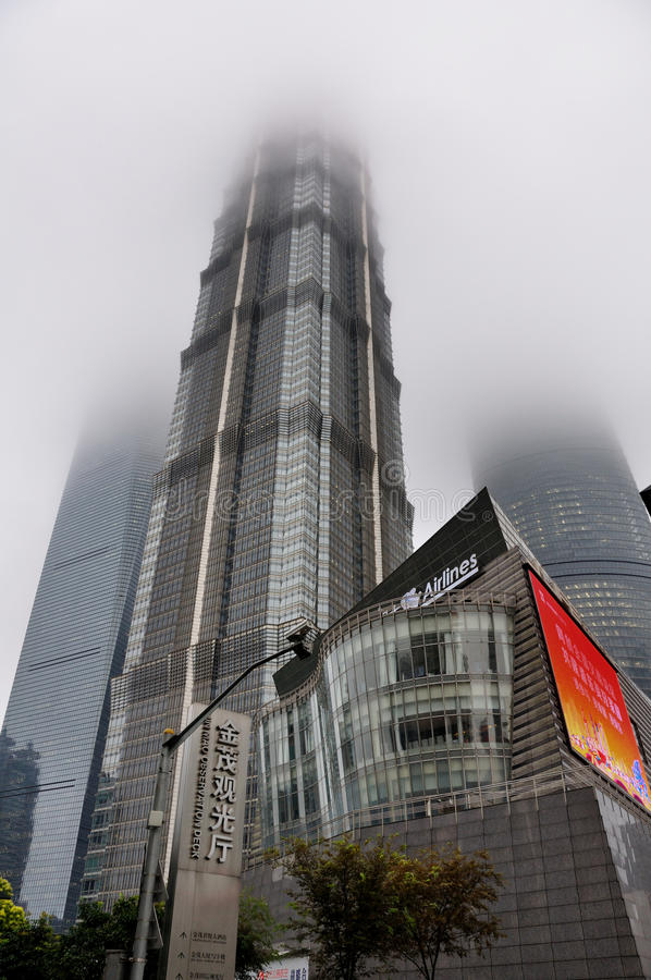 Jinmaotoren in Shanghai China royalty-vrije stock foto's