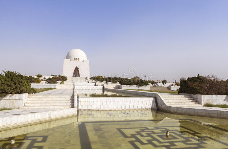 Jinnah Mausoleum em Karachi, Paquistão foto de stock