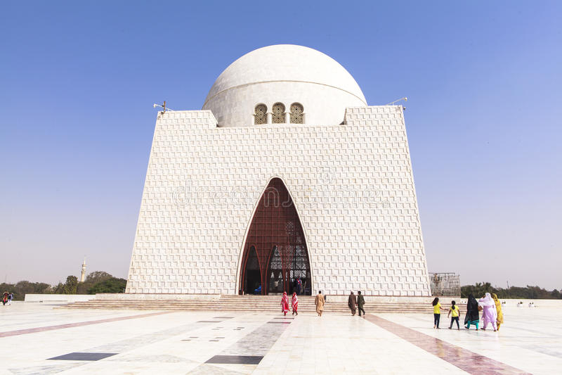 Jinnah Mausoleum in Karachi, Pakistan stock foto's