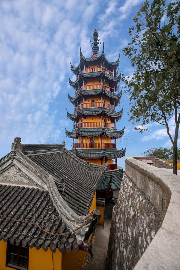 Jinshan-Tempel, Provinz Zhenjiangs, Jiangsu stockfotografie