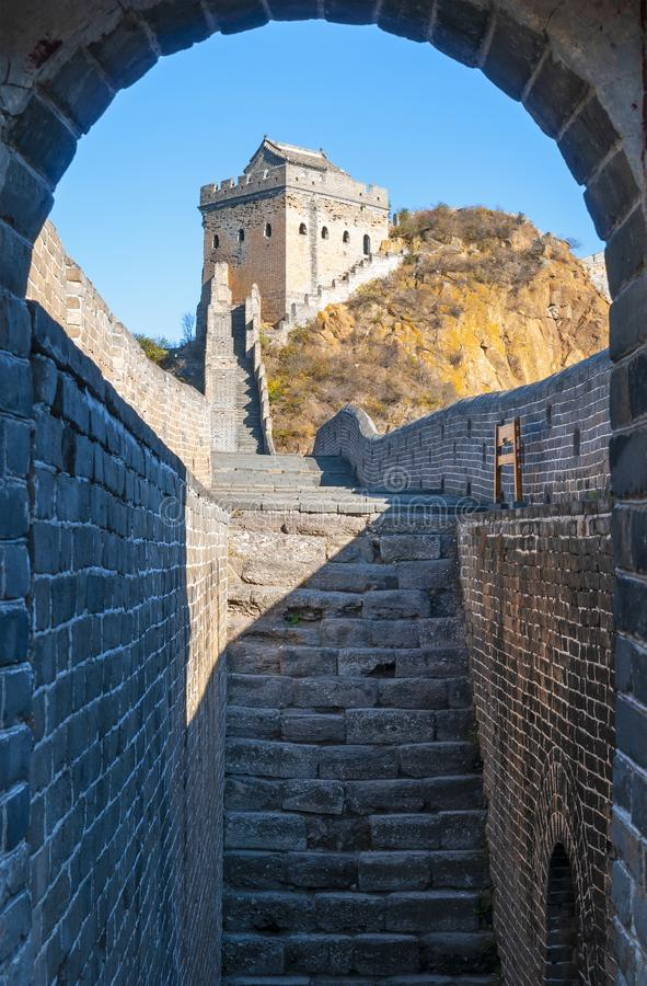 Jinshanling Great Wall of China stock images