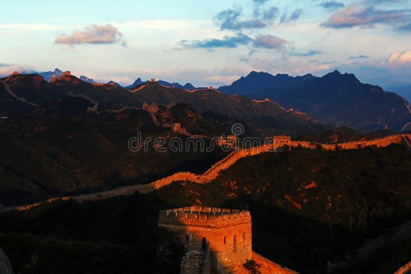 Download Jinshanling Great Wall stock photo. Image of wall, sunny - 32790084
