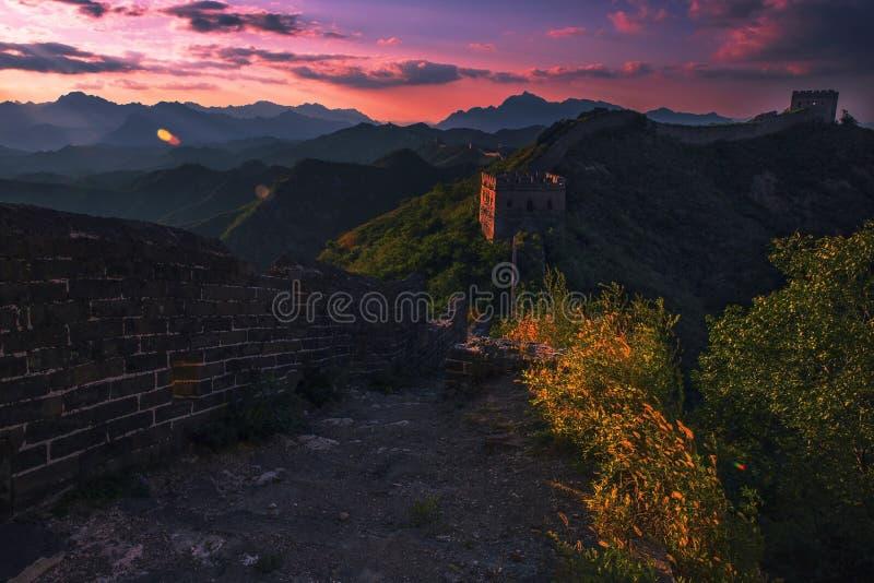 Jinshanling wielki mur obraz royalty free