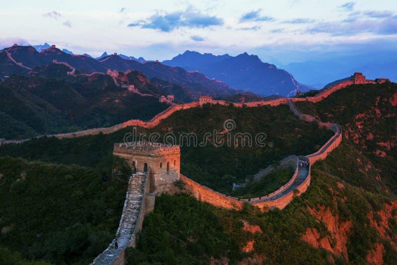Jinshanling wielki mur zdjęcie royalty free
