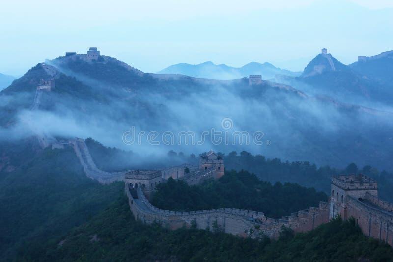 Jinshanling wielki mur fotografia stock
