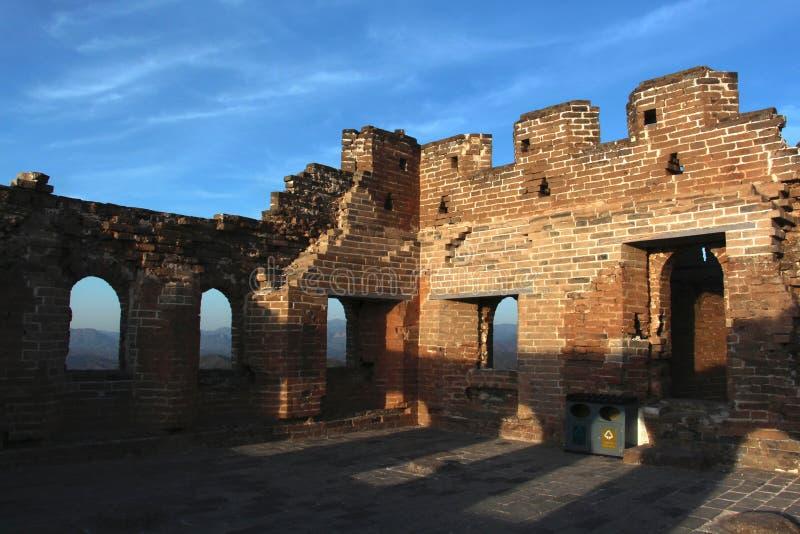 Jinshanlings Grote Muur in Peking royalty-vrije stock afbeelding