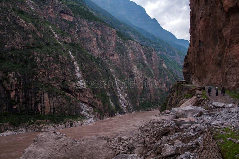 Jinsharivier Grand Canyon stock foto