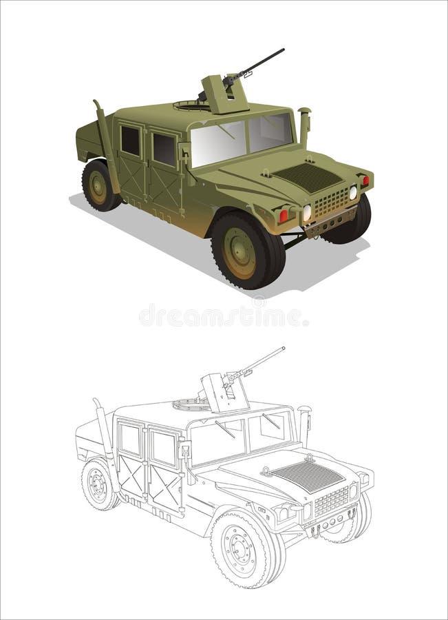 Jipe da guerra do Hummer ilustração do vetor