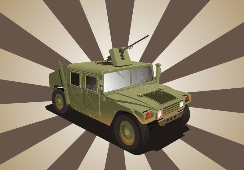 Jipe da guerra do Hummer ilustração royalty free