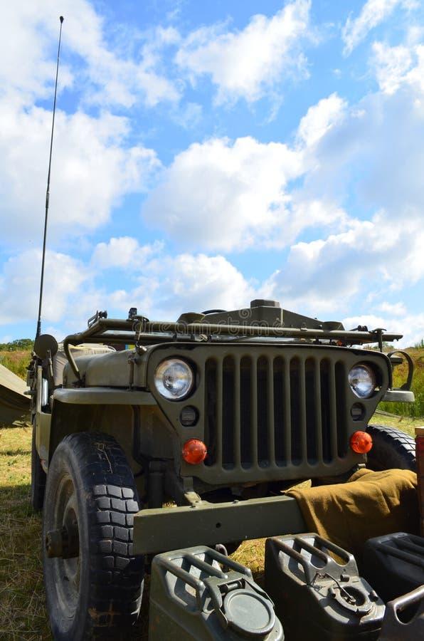Jipe das forças armadas de WW2 EUA fotos de stock royalty free