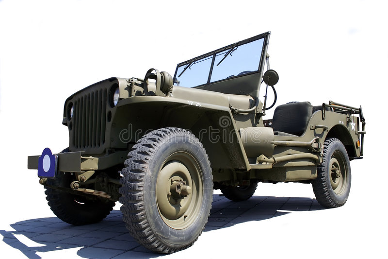 Jipe do exército dos EUA foto de stock royalty free