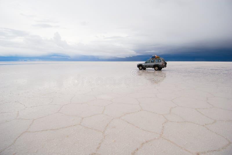 Jipe no lago de sal fotos de stock royalty free