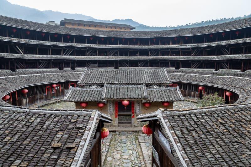 Jiqing Lou dans le groupe de ChuXi, province de Fujian, Chine photographie stock