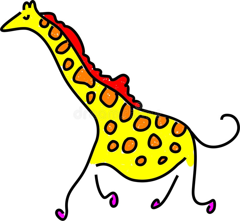 Jirafa stock de ilustración