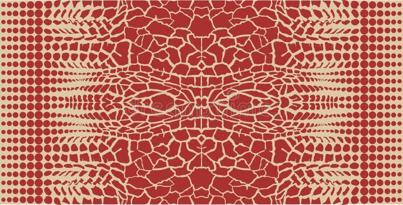 Jirafa - abstracción del fondo ilustración del vector