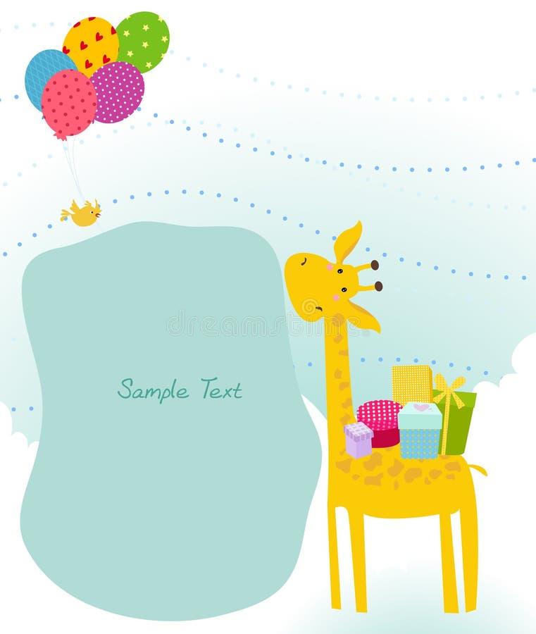 Jirafa linda stock de ilustración