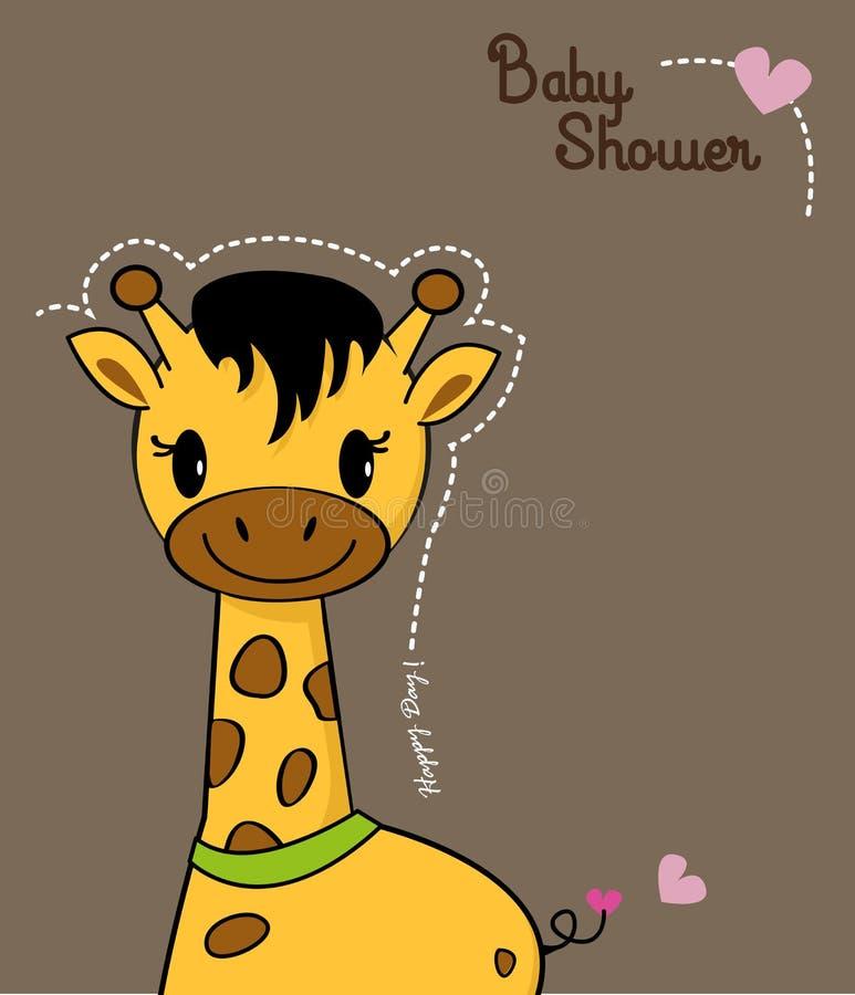 Jirafa linda del bebé stock de ilustración