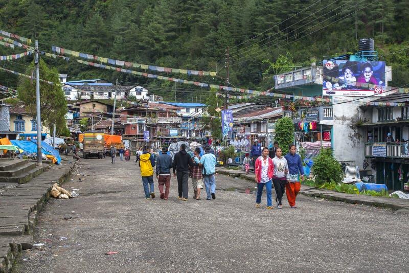 Jiri деревня стоковые изображения
