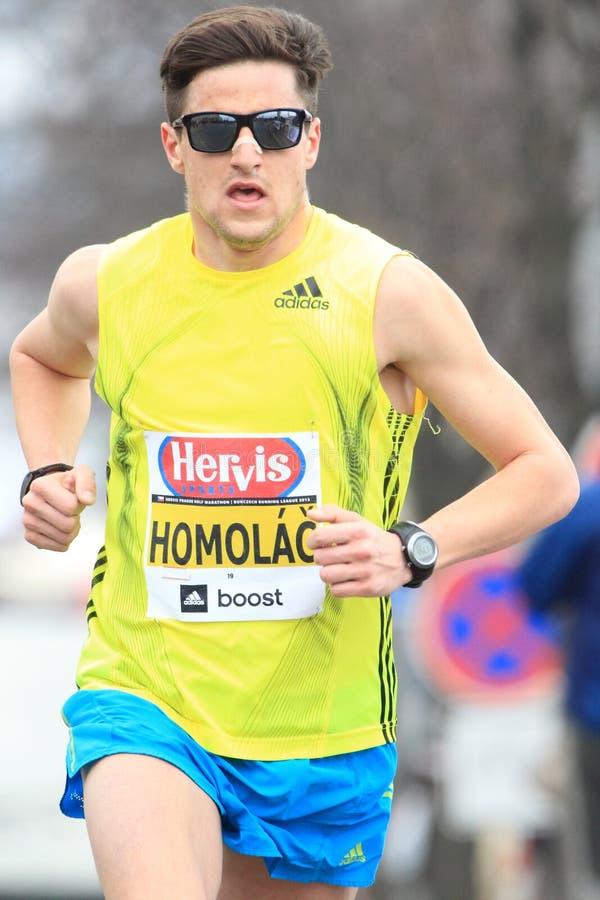 Jiri Homolac - Prague halv maraton 2013 arkivbilder