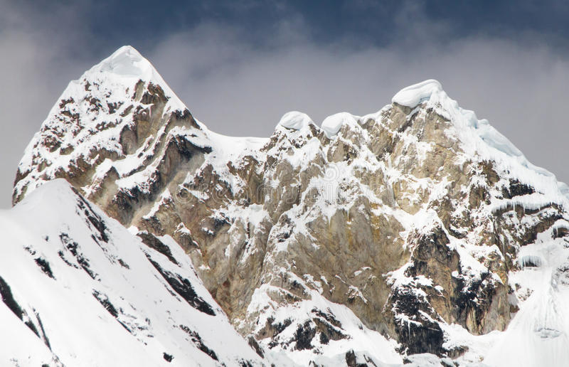 Jirishanca, οροσειρά Huayhuash, Περού στοκ φωτογραφίες