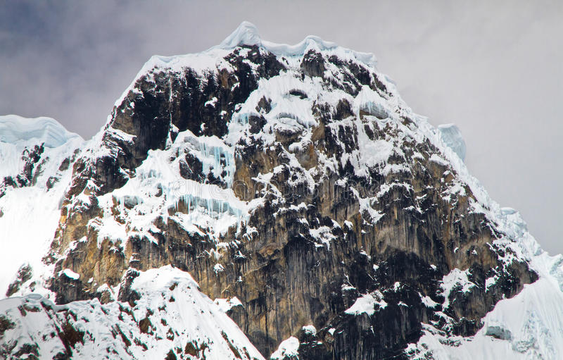 Jirishanca, οροσειρά Huayhuash, Περού στοκ φωτογραφία με δικαίωμα ελεύθερης χρήσης