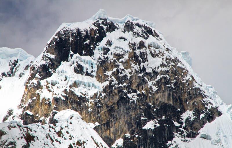 Jirishanca, Kordilleren Huayhuash, Peru lizenzfreies stockfoto