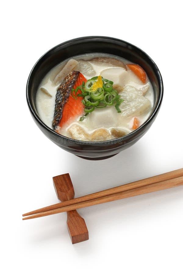 Jiru de Kasu (potage avec une base de lie de raison), japonais image stock
