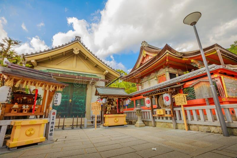 Jishu Jinja świątynia Kiyomizudera zdjęcie royalty free