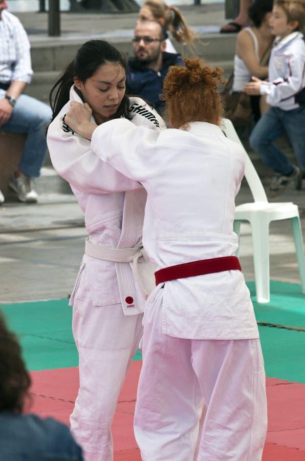 Jitsudemonstratie van Ju bij Sterren in de Sport 2010 royalty-vrije stock foto