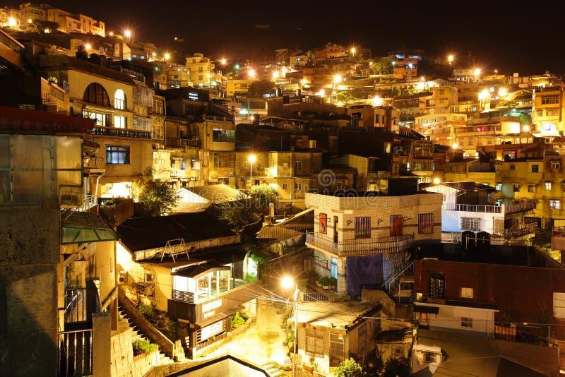 Jiu fen village. At night stock photo