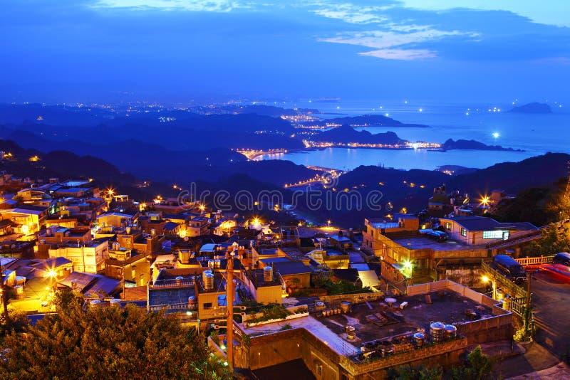 Jiu fen village, in Taiwan. Jiu fen village at night, in Taiwan royalty free stock image