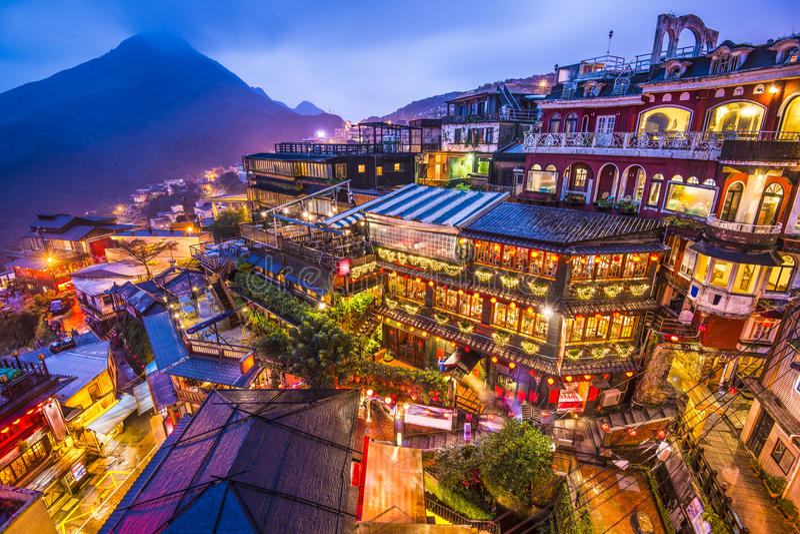 Jiufen,台湾 免版税图库摄影