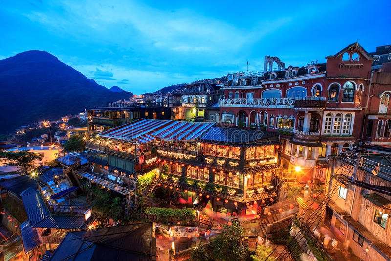 Jiufen, Тайвань стоковые фотографии rf